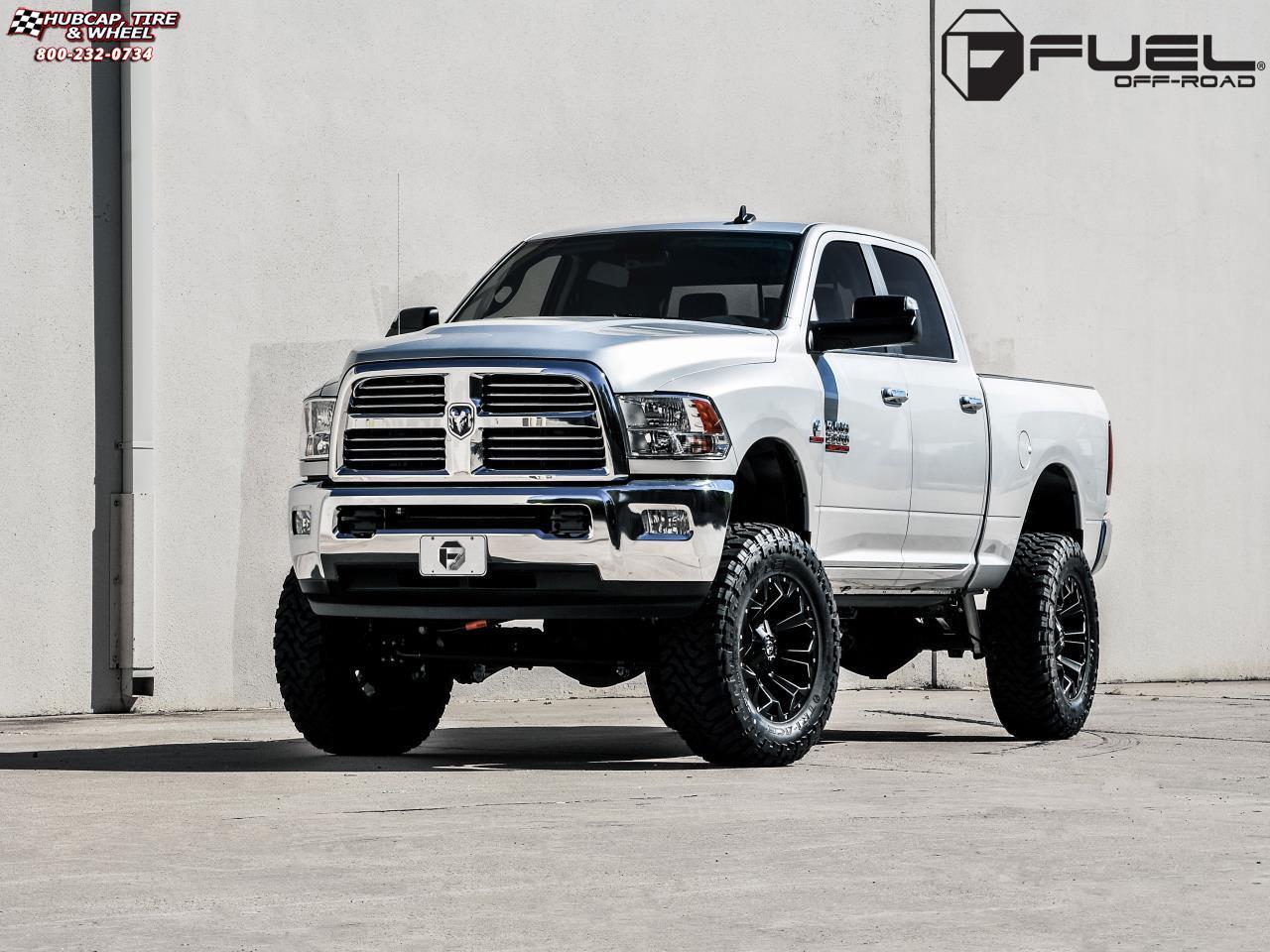 Dodge ram 2500 fuel assault d546 20x10 black milled wheels and rims
